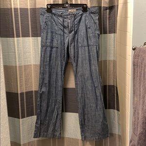 Banana Republic Blue Women's Linen Pants